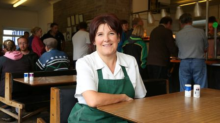 Gill Armer who runs the Auction Mart Cafe