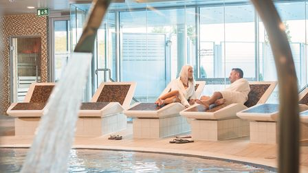 The hydrotherapy pool in the thermal suite (credit: Andy Ford)