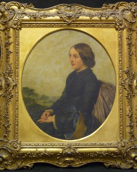 A portrait before Alice cleaned it (©Norfolk Art Conservation)