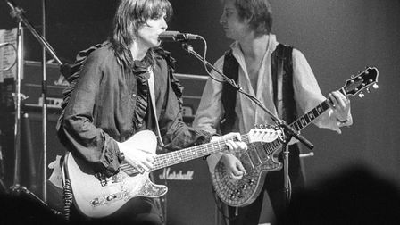 Chrissie Hynde and The Pretenders on stage in Lancaster