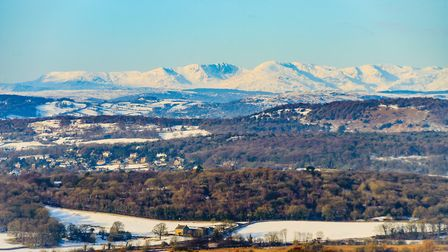 Silverdale and the Coniston Fells from Warton Crag by Jon Sparks