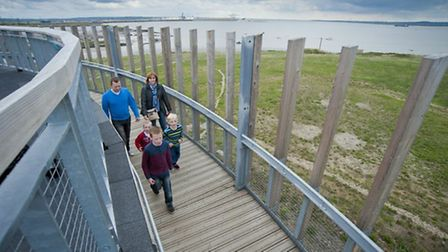Thurrock Thameside Nature Park spiral view from roof by Matthew Roberts