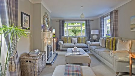 LIVING ROOM Sofas from Laura Ashley. Lamps from Baker Rhodes 01263 733455. Cushions from Classix, No