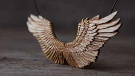 Wings Pendant by Giles Newman