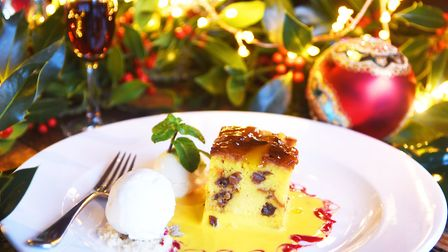 Panettone bread and butter pudding at The Bell in Brisley (photo: Ian Burt)