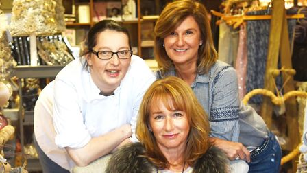 At the Thornham Deli are executive chef Gemma Arnold (left), director Janie Thompson and manager Den