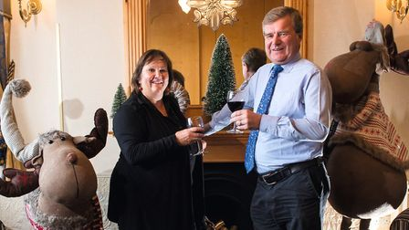 Nick and Aileen Mobbs from The Imperial Hotel, Yarmouth get ready for Christmas (photo: Nick Butcher
