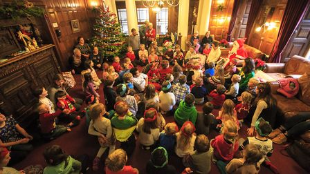Youngsters from Grasmere at a festive gathering (Picture: Martin Campbell)