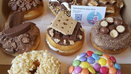 A selection of eight from Daddy Donuts