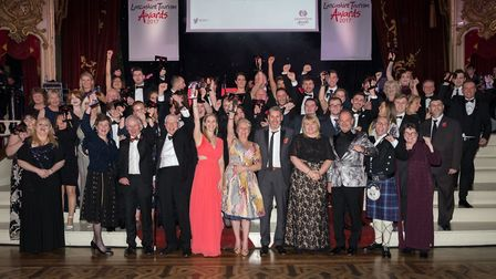 Lancashire Tourism Awards 2017 winners on stage at the ballroom