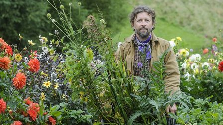 Dan is creating a series of gardens around the buildings and barns (c) Jason Ingram