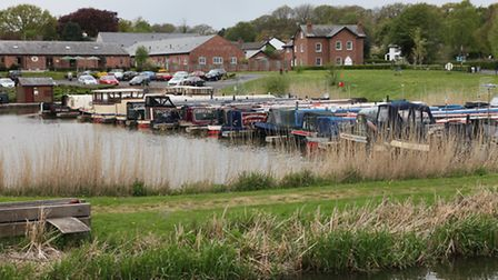 The Leeds-Liverpool Canal and Rufford Marina
