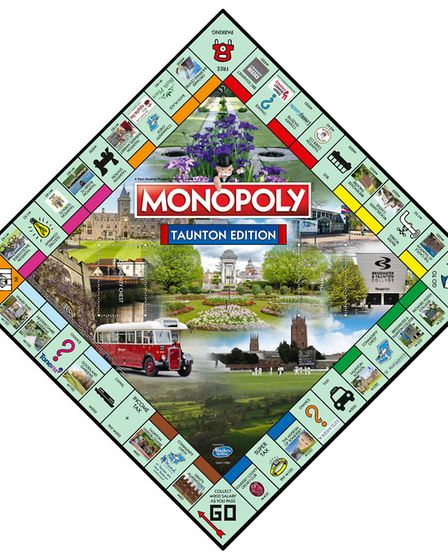 Taunton has been immortalised with its very own Monopoly edition
