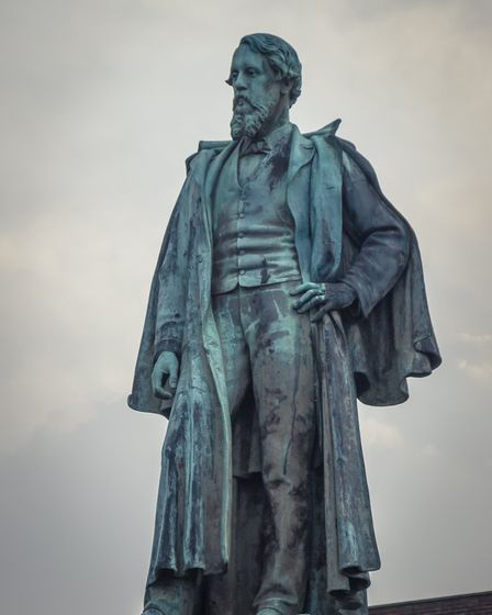 Sculpture of Fredrick Cavendish outside Barrow-in-Furness town hall