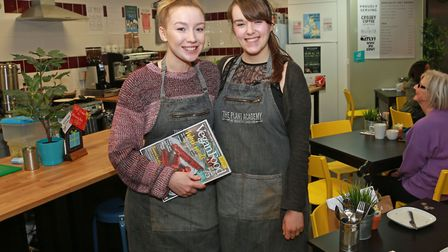 Leah Harwood and Ellie Richards at The Plant Academy