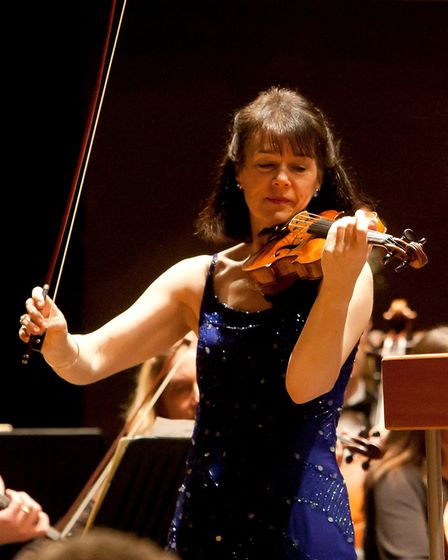 Gina McCormack performs with the Haffner