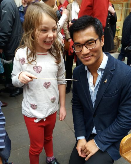 Jonny Lo with a future conductor