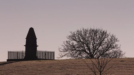 The monument marking the site of Athelney