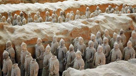 The Terracotta Army pictured here in Xian, China. A number of items will be on display at the exhibi