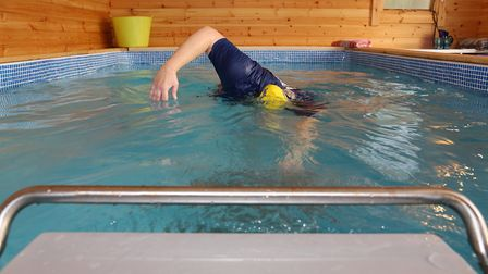 Swimming the Total Immersion stroke
