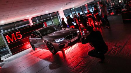 The new BMW M5 was the centre of attention