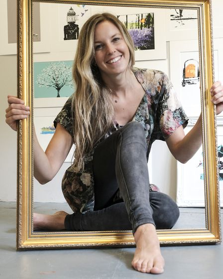 Katie Edwards, the up and coming Cumbrian artist from Newby Bridge who won Printmaker of the Year at