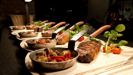 The Wild Boar specialises in steaks which can be cold smokes and treated in a salt chamber