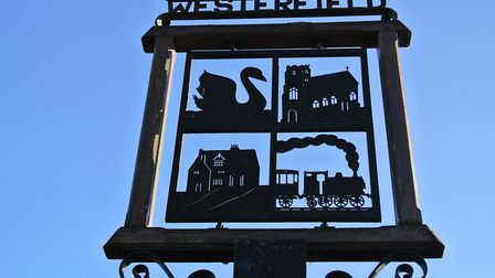 Westerfield's village sign