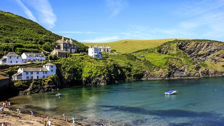 The village of Port Isaac in Cornwall UK by csfotoimages