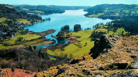 Panorama Over Water Head and Lake Windermere by John Cobham