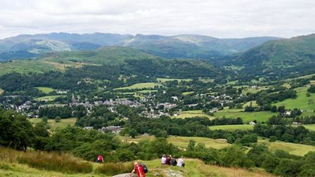 The glorious view of Ambleside from Wansfell by John Lenehan