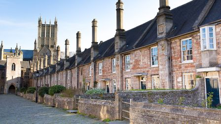 Vicars Close next to Wells Cathedral, dating from the 15th century