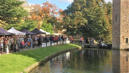 Wells Food Festival stretches from the Market Place, along the Bishops Palace Moat and into the recr