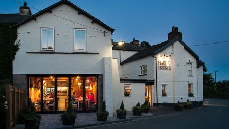 A warm glow from the new Hare and Hounds restaurant