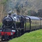 East Somerset Railway locomotives stop at nearby Mendip Vale