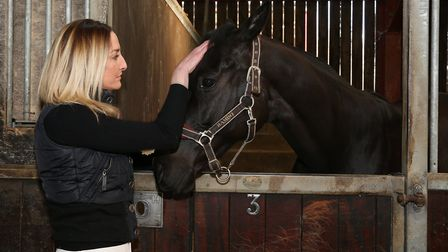 Victoria Smith with Charlie the horse