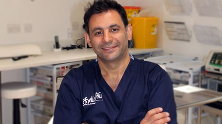 Amir in theatre at the Bella Vou clinic where local anaesthetic procedures are performed