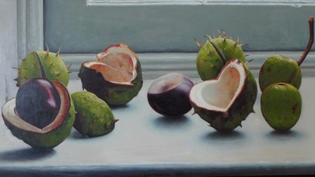 Conkers on a window sill - George Melling