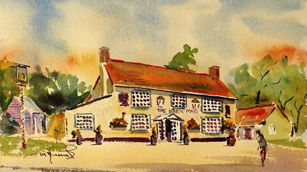 THE GREEN MAN INN One of many lovely buildings 'sprinkled' amid the beautiful landscapes of the Braxteds.