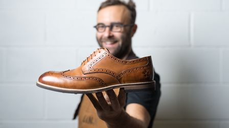 Marco with one of his Whalley designed brogues