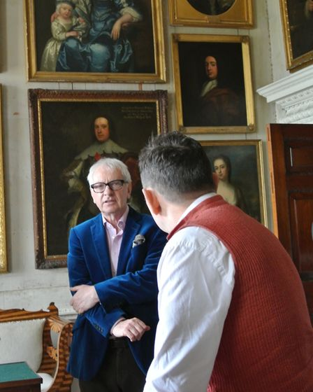 Peter and Keith in the Walpoles Portrait Room (photo: Lindsay Want)