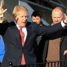 Boris Johnson after his election win in December 2019. Photograph: Lindsey Parnaby/PA.
