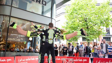 Circus skills workshops at Liverpool ONE