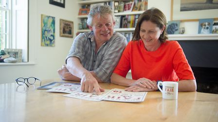 Martin and his wife Philppa look over the plans for this year's Buckham Fair. Picture credit: Lucy S