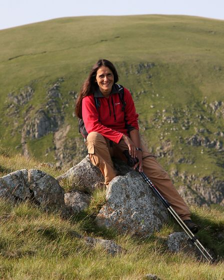 Outdoor writer and photographer Vivienne Crow on the Lake District fells (c) Vivienne Crow