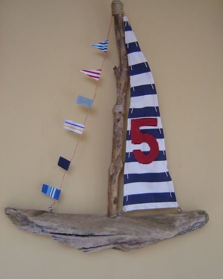 The driftwood boat Paul made for George