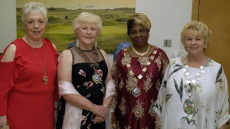 Sheila Millington, club president Sheila Chatterton, Dorcas Akeju and Paulene Regan