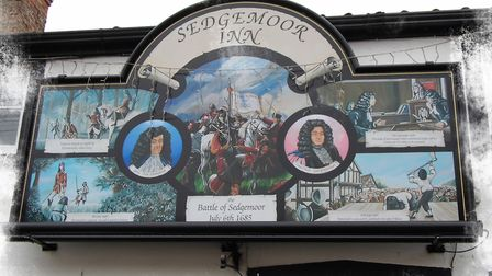 The Sedgemoor Inn has one of the most colourful pub signs in the country