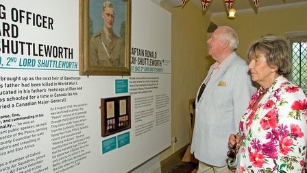 Lord and Lady Shuttleworth at the exhibtiion