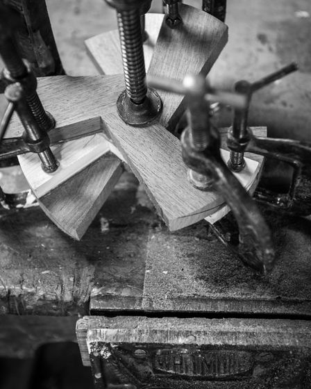 A propellor in the early stages of construction (photo: Steve Adams)